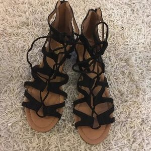 8bc54401a0d7 crown vintage Shoes - Crown Vintage Sarah Wedge Strappy Sandal